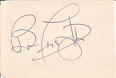 Sir Bruce Forsythe CBE signed album page,  entertainer E1680