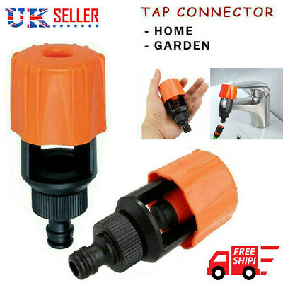 Tap To Garden Kitchen Mixer Hose Fitting Pipe Connector Yard Bathroom Adapter UK