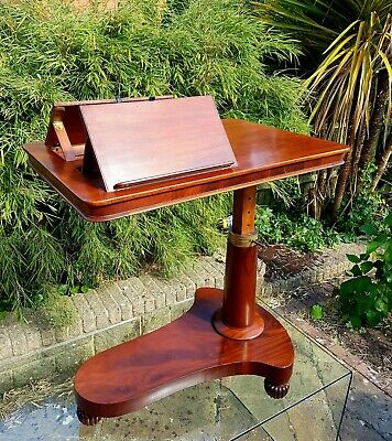 Gillows Mahogany Adjustable Reading Table / Duet  Music Table