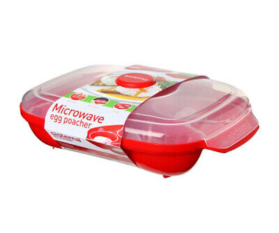 Sistema Microwave Egg Poacher for Up to 4 Eggs- For Ideal Poached Eggs