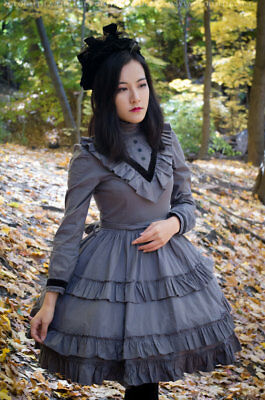 GLOOMTH VICTORIA GOTHIC Mourning Dress Regular or Plus Size Lolita ...