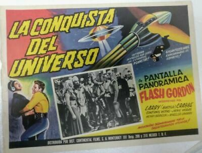 Flash Gordon erobert das Universum Mexican Original Lobby Card.