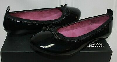 Kenneth Cole Reaction Kids Copy Tap ballet flats black patent NEW WITH BOX