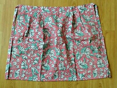 New Ladies Poly/Cotton Floral Print Half Waist Catering Apron With Single Pocket