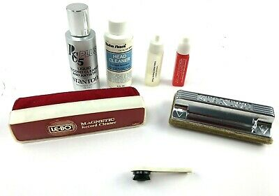 Record Cleaning Kit: LE-BO Magnetic Cleaner, Stanton Brush & Cleaning Fluids