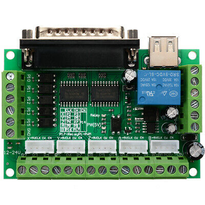 CNC 5 Axis Interface Breakout Board For Stepper Motor Driver CNC Mill MACH3 G8