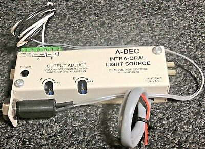 Adec Dual Voltage Dental DeliveryIntra-Oral Hand-piece Light Source 90-0380-00