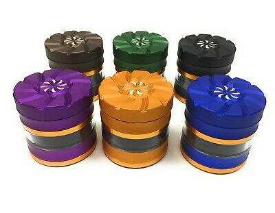 New Design 2.5 Inch 4 Piece Tobacco Grinder  Herb Grinder US Seller