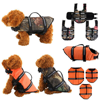 Pet Dog Swimming Life Jacket Float Vest Reflective Water Safety Saver Preserver