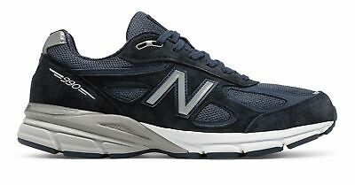 2711dee8344da New Balance Men's 990V4 Made In Us Shoes Navy With Silver