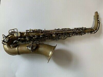 Great Playing Conn New Wonder II Series Bare Brass Alto Saxophone