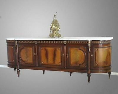 Antique Vintage French Louis XVI Sideboard TV Stand Buffet Marble Maker stamp