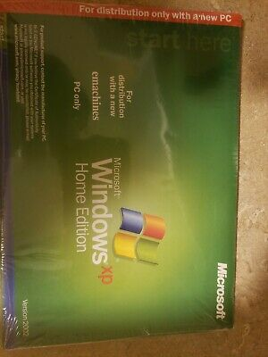 Microsoft Windows XP Home Edition Version 2002 . New. Sealed