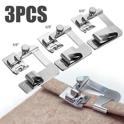 3Pcs/Set Domestic Sewing Machine Foot Presser Rolled Hem Feet For Brother Singer