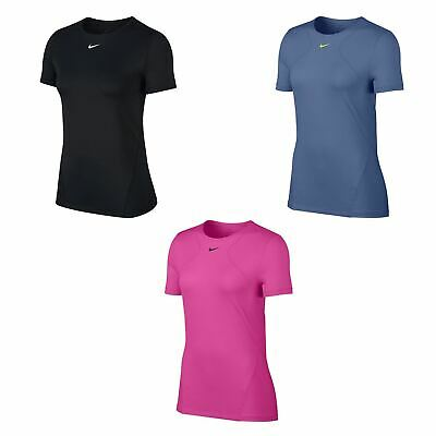 Nike Dri-Fit Mesh T-Shirt Womens Fitness Training Workout Top Tee Activewear