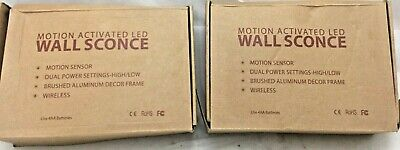 (2) Light LED Motion Activated Wall Sconce Fixture Lamp Lighting Home C15