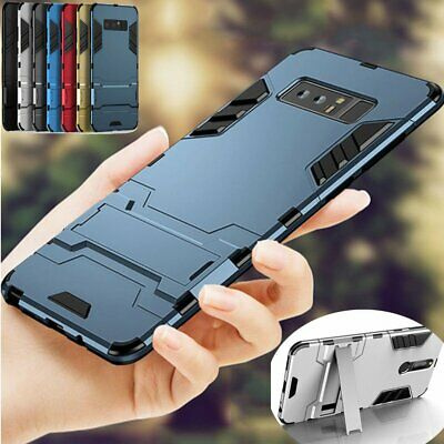 For Samsung Galaxy S10 5G S9 S8 Note 9 Slim Hybrid Rubber Armor Case Cover Stand