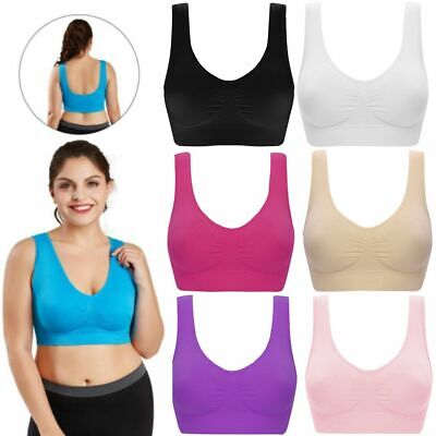 PACK OF 3 Seamless Comfort Bra Yoga Sports Style Crop Top Vest Shapewear Stretch