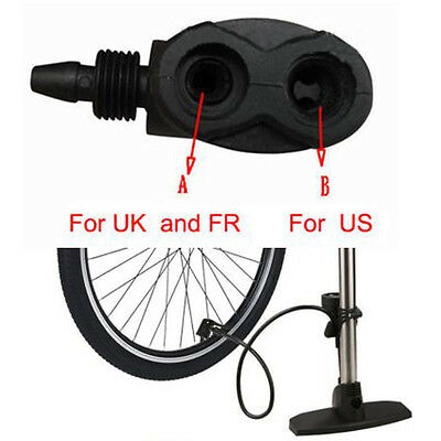 Bike Cycle Bicycle Tyre Tube Replacement Presta Dual Pump F2Y1 Adapter Head I4B3