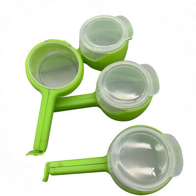 2in1 Seal Pour Bag Clip with Lid Food Snack Saver Sealer Kitchen Tool Green New