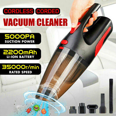 Cordless Corded 5Kpa 120W Handheld Home Car Vacuum Cleaner Wet&Dry Rechargeable