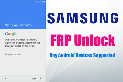 Samsung FRP Lock Google Account Removal/Reset All Models S10 S8 S9 S9+ NOTE Tabs