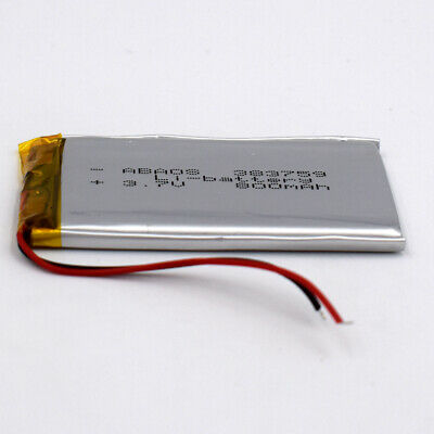 3.7V 800mAh Liion Cell 383759 Rechargeable Lipo Battery For Camera PSP Speaker
