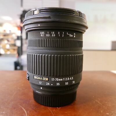 Used Sigma 17-70mm f2.8-4.5 DC Lens in Nikon Fit - 1 YEAR GTEE