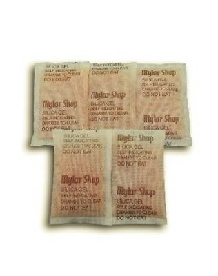 5 x 30g self-indicating silica gel desiccant sachets remove moisture, reusable 2