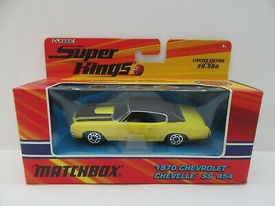 Matchbox Superkings K-202 1970 Chevrolet Chevelle SS454 - Yellow - Mint/Boxed