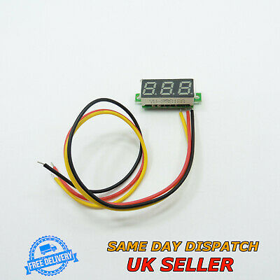 "0-100V DC 0.28"" Voltmeter LED Three Wires Digital Display Voltage Meter"