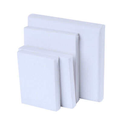 Blank White Mini Small Stretched Artist Canvas Art Board Acrylic Oil Paint AE  V