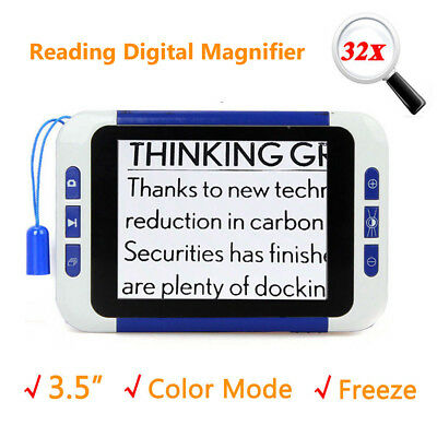 """3.5""""Screen Intelligent Electronic Low Vision 2-32x Magnifier Reading Aid Helping"""