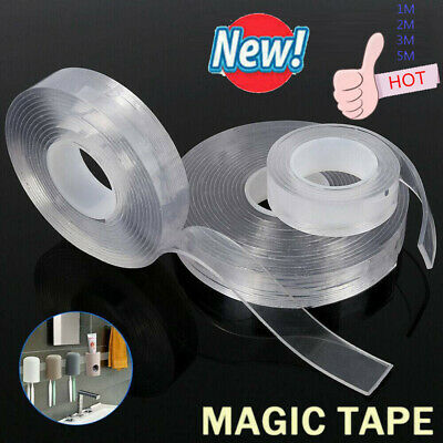 1M-5M Reusable Multi-Function Nano Magic Tape Transparent Traceless Fixed Double