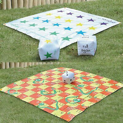2 In 1 Giant Garden Games Set Snakes And Ladders Tangle Twister Family Outdoor &