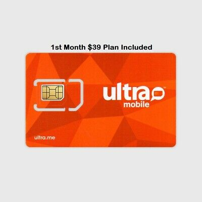 PORT ONLY - PreLoaded Ultra Mobile SIM Card+$39 Plan 1st Month INCLUDED
