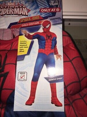 Marvel Ultimate Spiderman Muscle Halloween Child Costumes #185 NEW