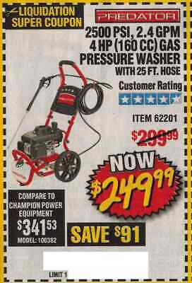 HARBOR FREIGHT COUP ON for 48
