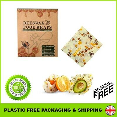 Beeswax Food Wraps Reusable Cloth Eco Natural Sustainable Organic Living Bee Wax