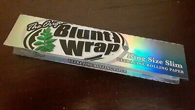One Single Pack Blunt Wrap King Size Slim Ultra Fine Rolling Papers - 33 Leaves