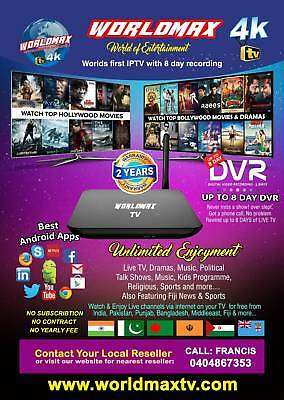 WORLDMAX 4K IPTV Box No Subscription Indian Hindi Bangla Pakistan