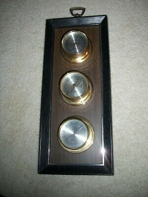 Vintage Springfield Instrument Barometer Humidty Thermometer Weather Station