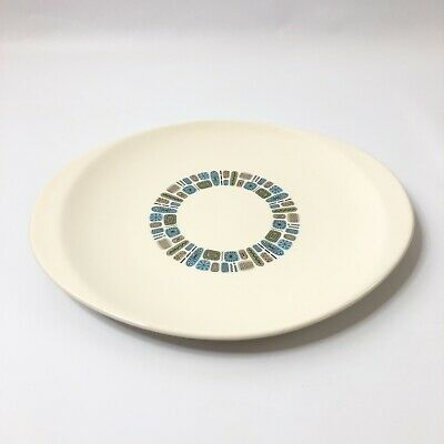 Dura Gloss Temporama by Canonsburg Pottery Serving Platter Atomic Mod 14""