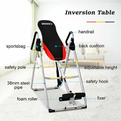 BRAND NEW! OneTwoFit Heavy Duty Deluxe Inversion Therapy Table Adjustable Height
