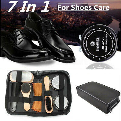 Shoes Cleaning Kit Polish Boot High Heeled Leather Shine Care Brushes Tool Set