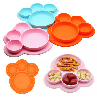 Silicone Food Mat Dish Tray Placemat Plate Dish Kid Baby Toddler Tablewares 1PC