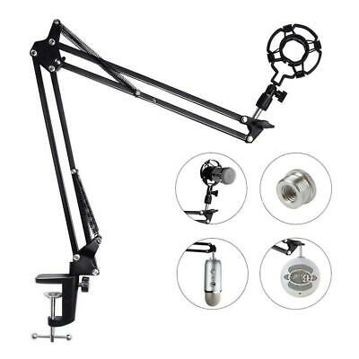 Microphone Arm Stand For Blue Yeti Snowball Microphone Mic Clip Adjustable Boom