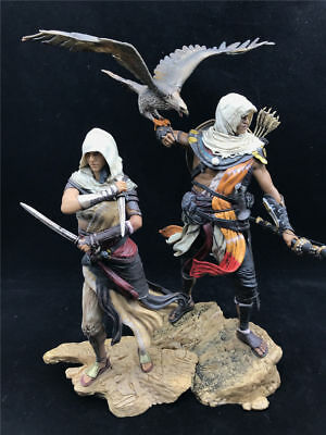 Assassin's Creed Origins Bayek Aya Statue Figure PVC Collectable Toys Model