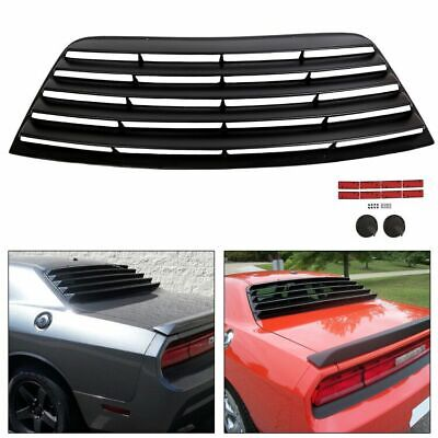Rear Window Scoop Louver Sun Shade Cover ABS For 08-19 Dodge Challenger