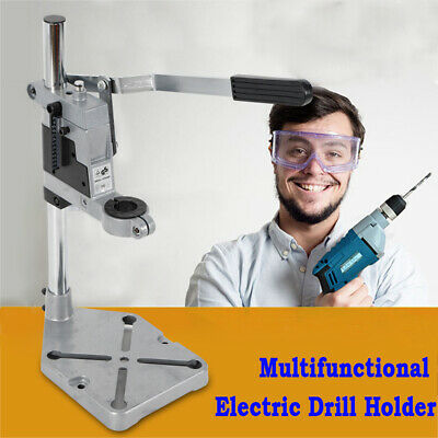 Drill Stand Holder, Bench Clamp Drill Press Stand Workbench for Drilling Collet